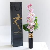 Elegant Pink Orchid Vase