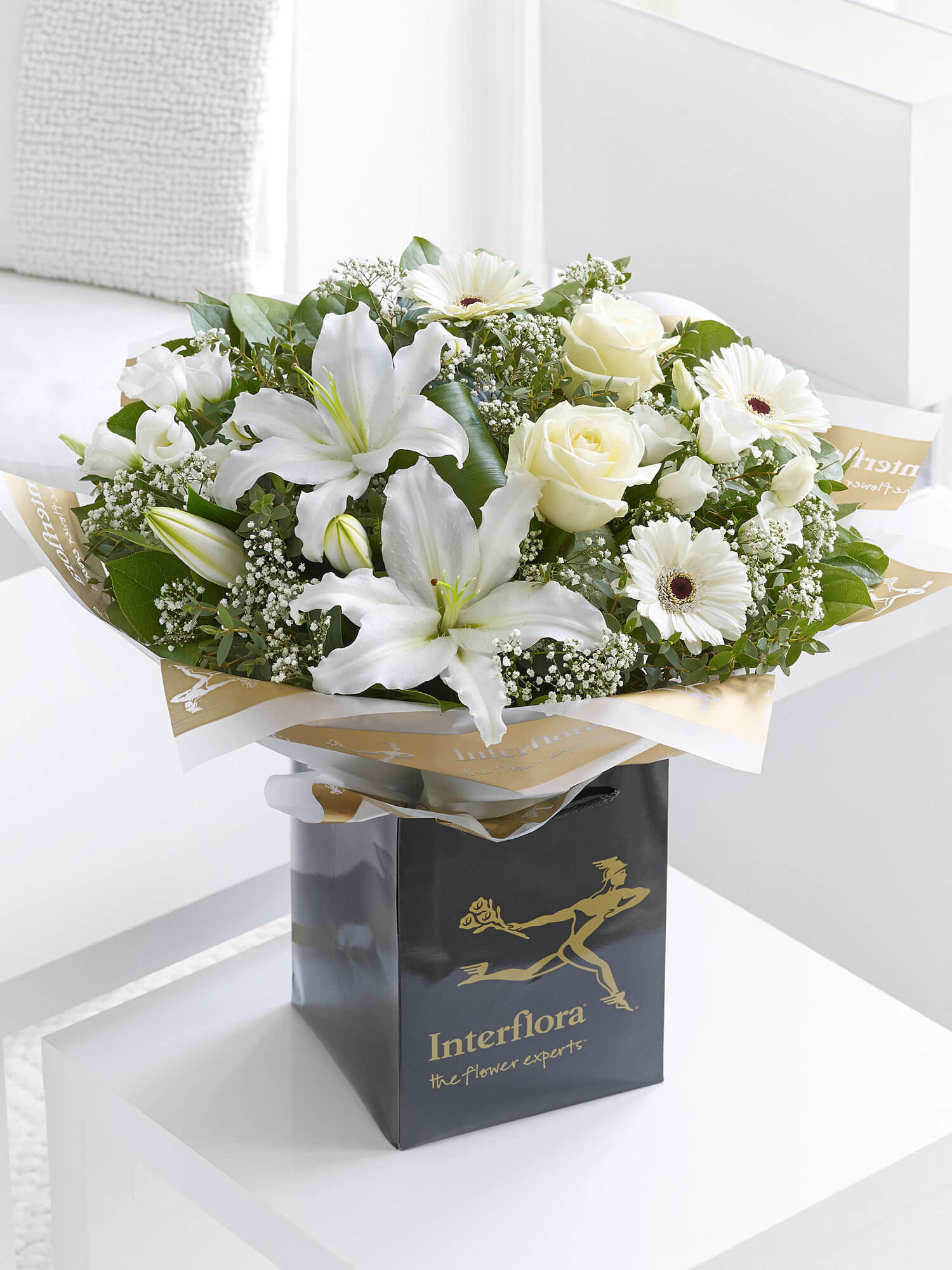 White Radiance Sympathy Hand-tied