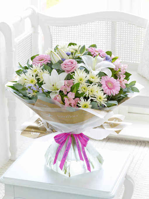 Happy Birthday Country Garden Hand-tied