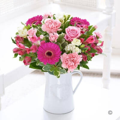 Fragrant Garden Jug Arrangement