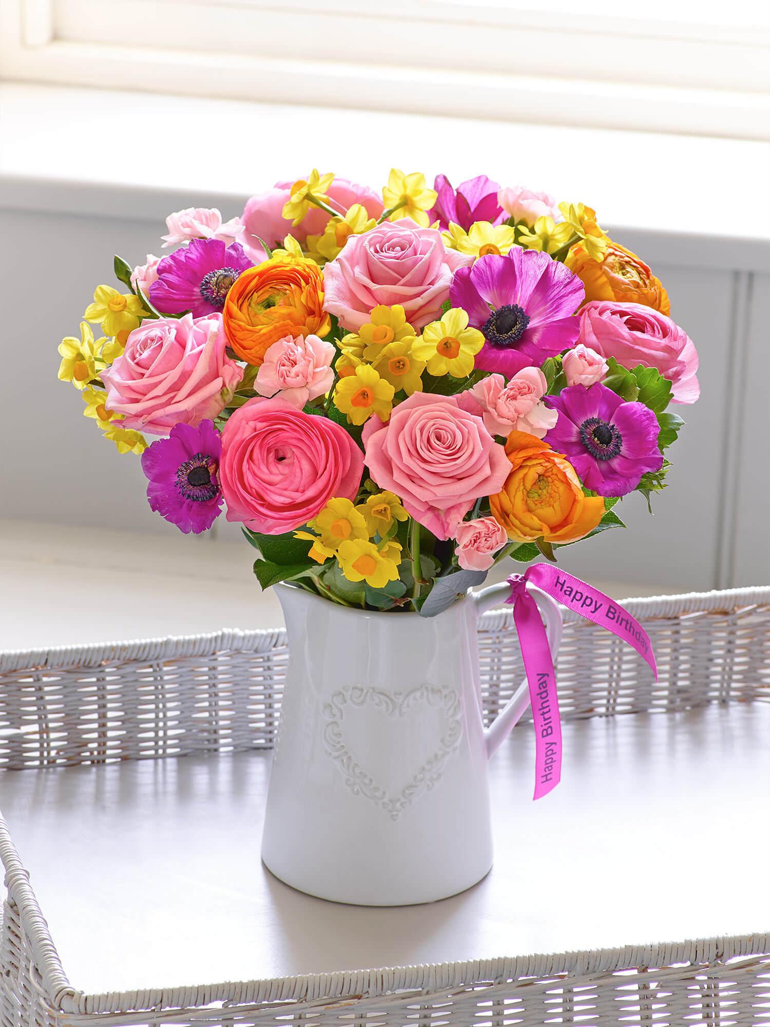 Happy Birthday Spring Celebration Jug