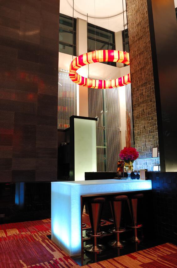 The Illuminated modern bar interior, Pattaya, Thailand