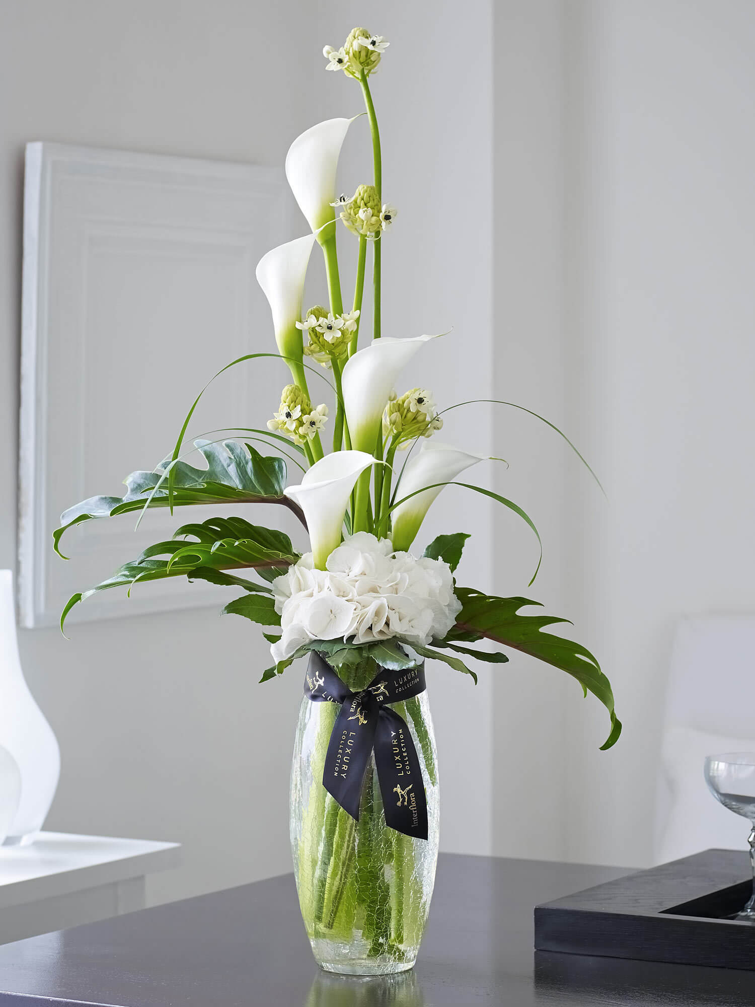 Luxury Calla and Ornithogalum Vase